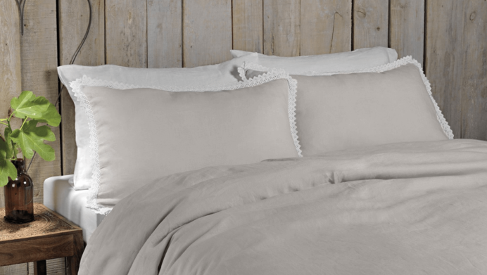 image of a linen luxury bedding of amalia home collection